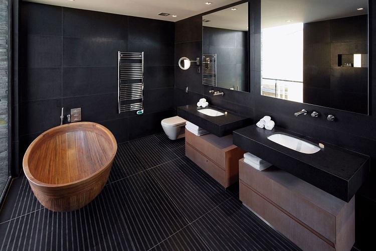 dark luxury bathroom design