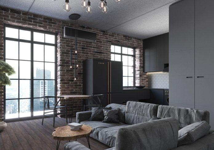 chic small studio apartment