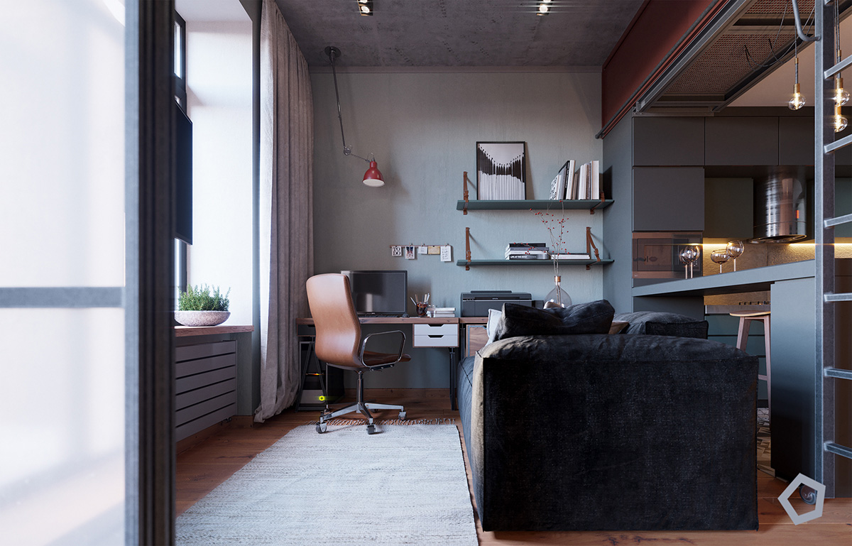 Chic Small Studio Apartment Use A Space Splendidly To Make