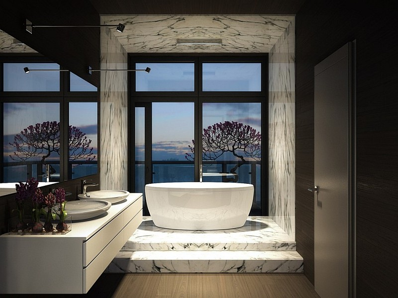 luxury dark bathroom design