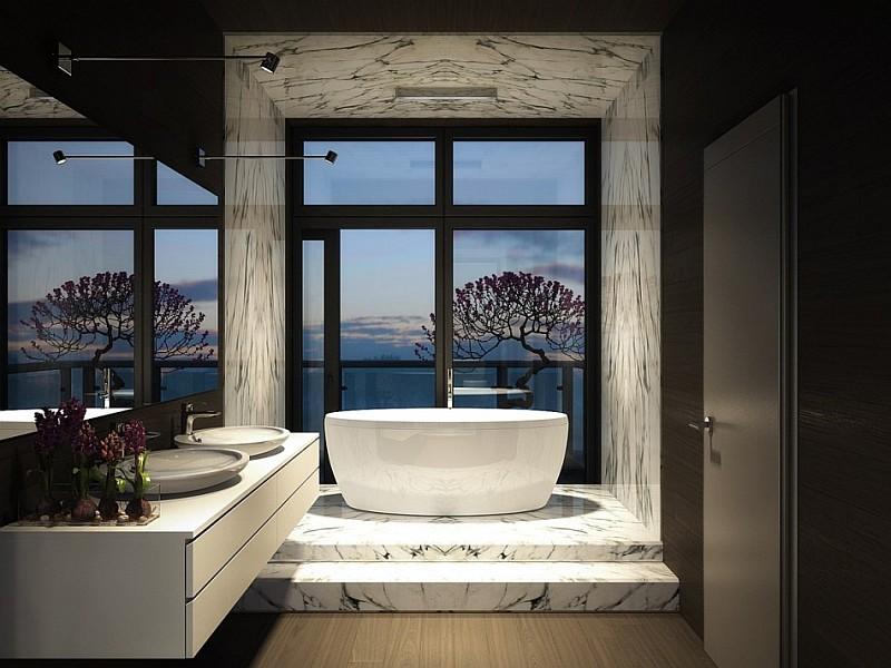 luxury dark bathroom design