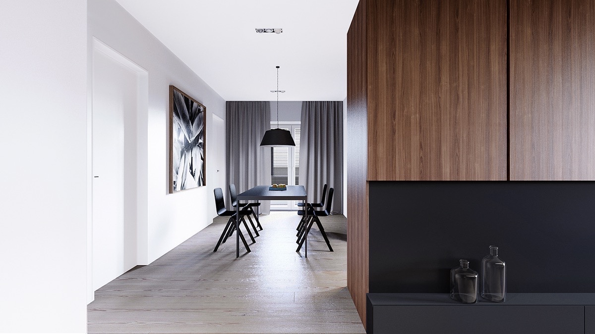 modern wooden dining room