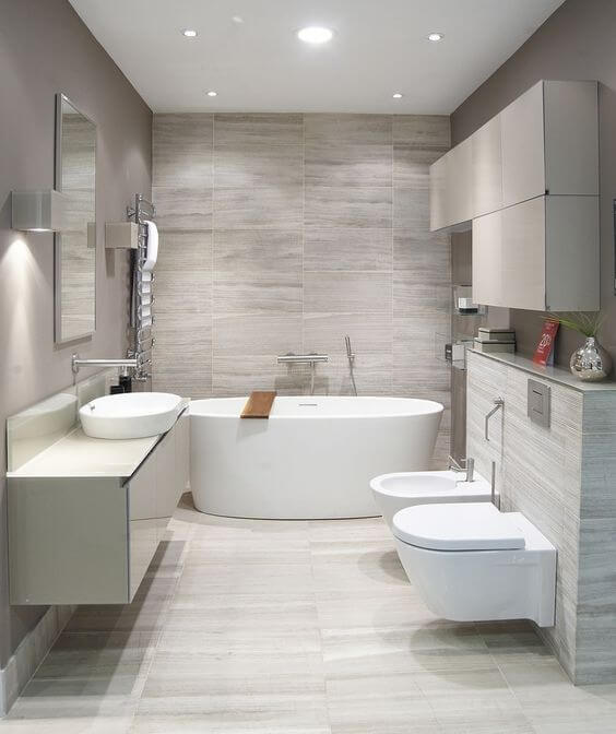 modern bathroom marble tile design