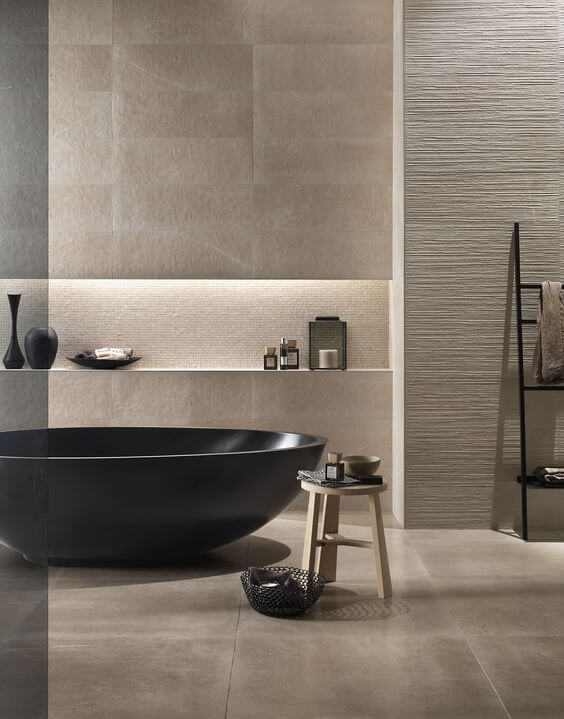 modern beige bathroom design