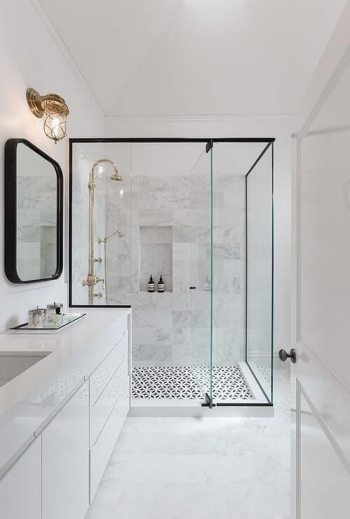 modern charming shower bathroom