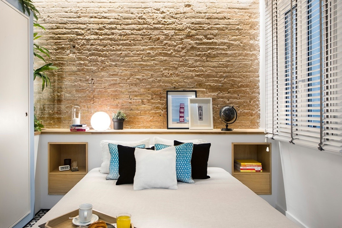 modern accent wall bedroom design