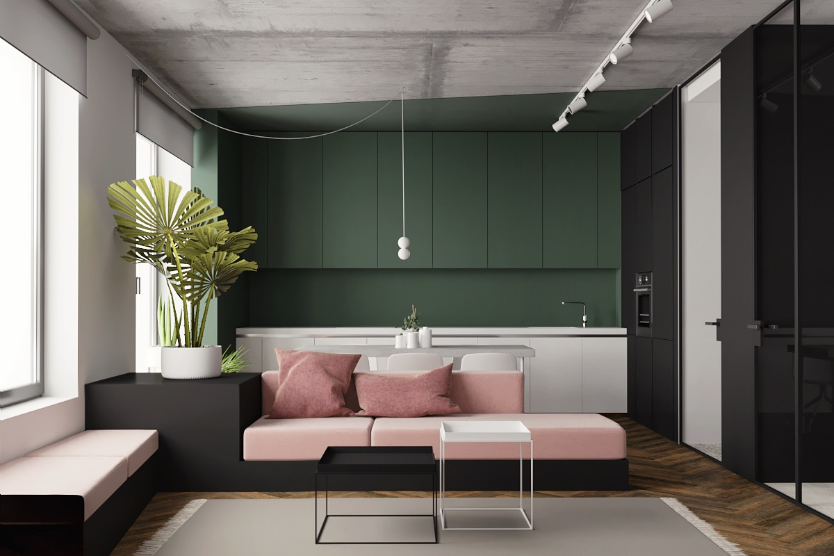 Great Inspiration Of Small Modern Studio Apartment Using