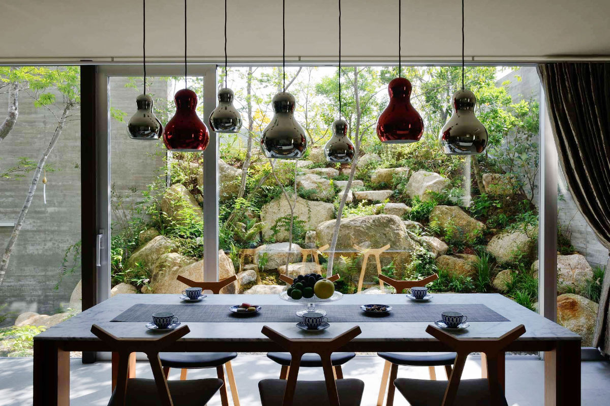 modern nature dining room