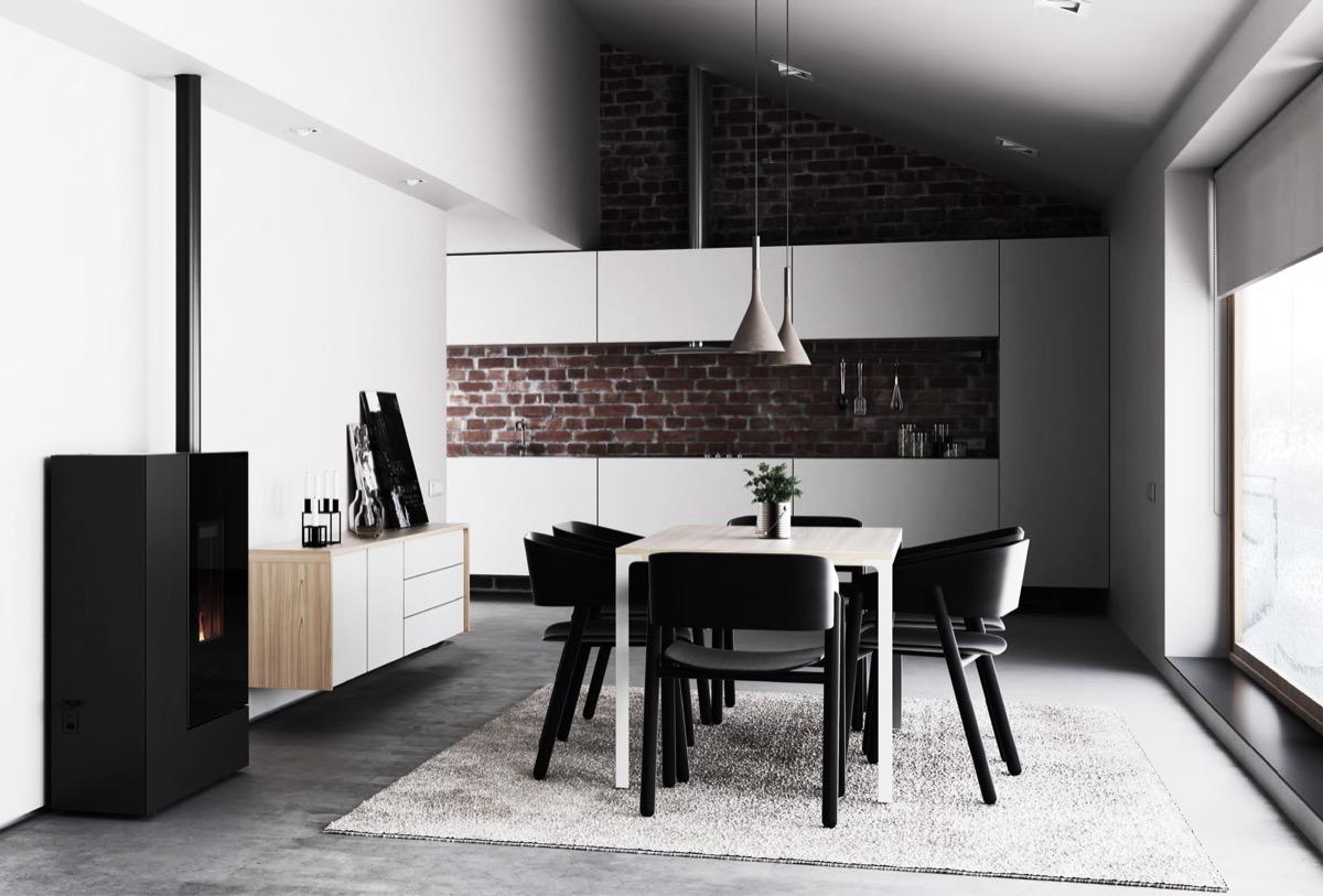 scandinavian-dining-room-exposed-brick-panel