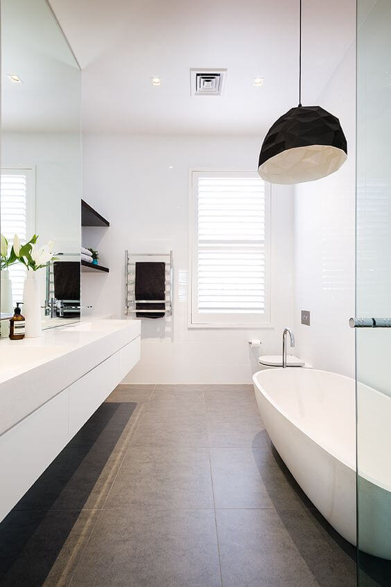 simple white modern bathroom