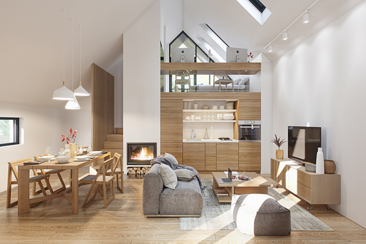 3 Fabulous Studio Apartments Arranged With A Stylish Loft