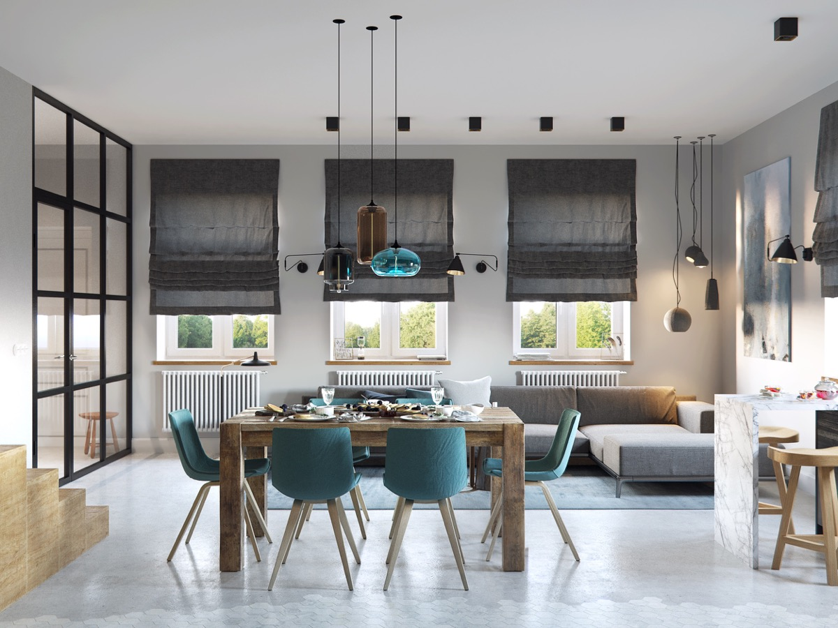 turquoise-feature-home-dining-room