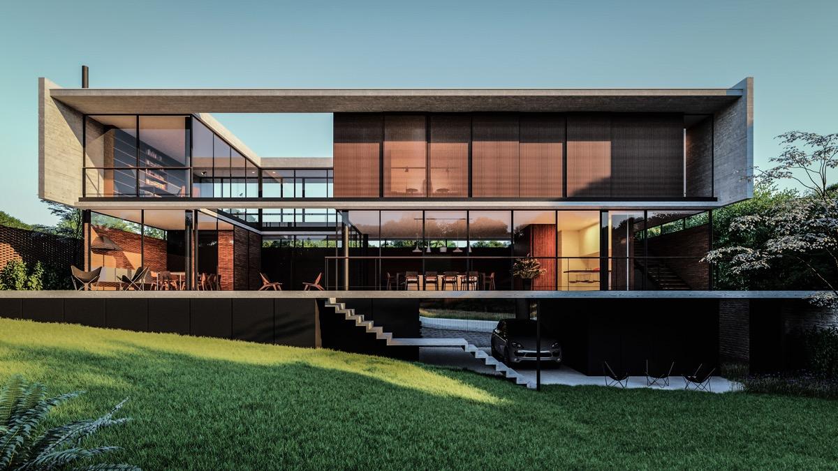 two-level-dark-exterior-elevation-houses