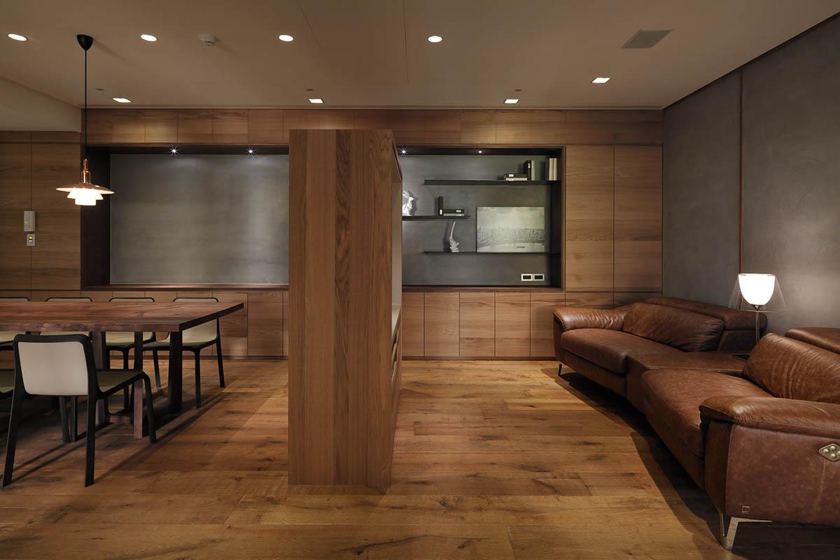 wooden divider for kitchen