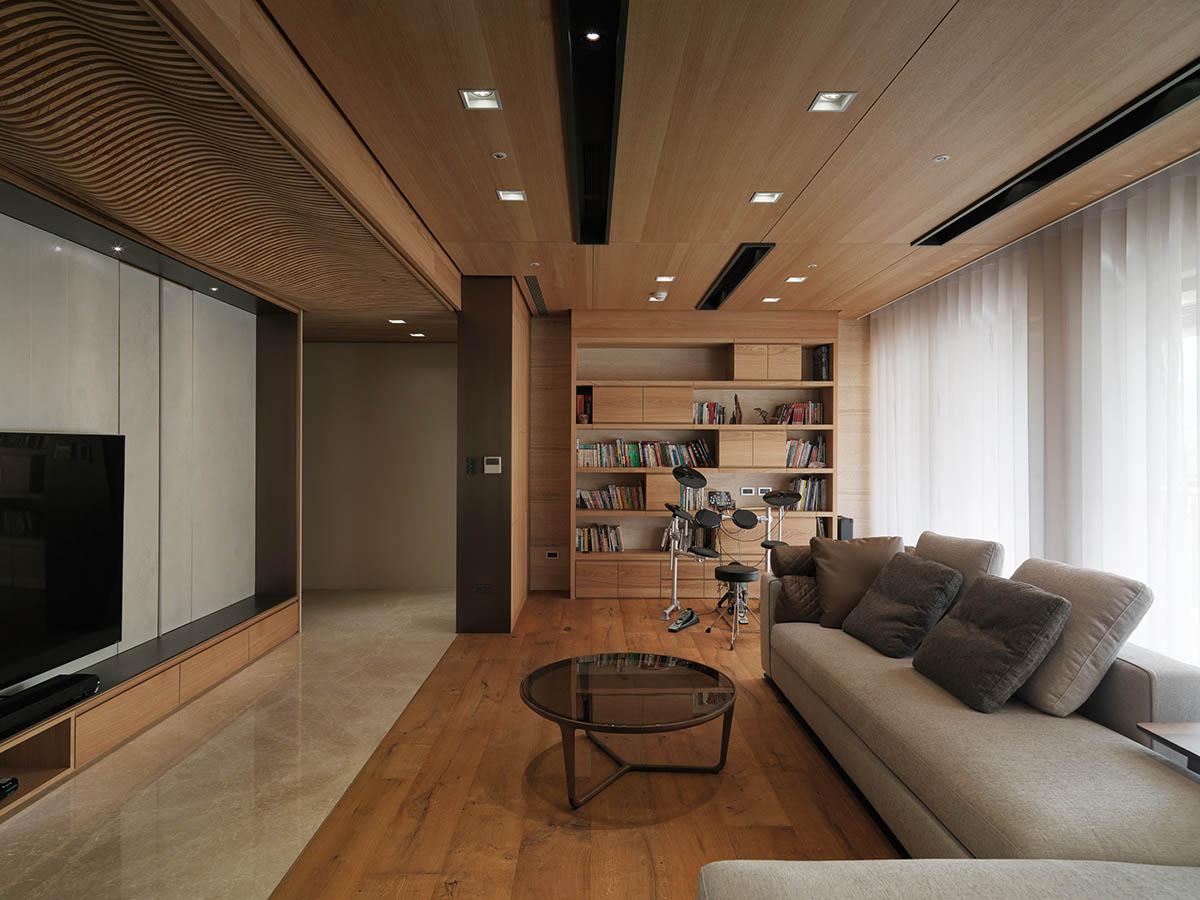 wooden living room design