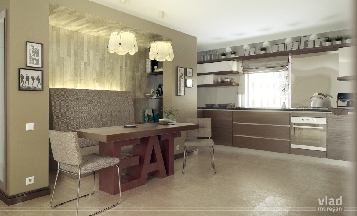 creative-modern kitchen and dining