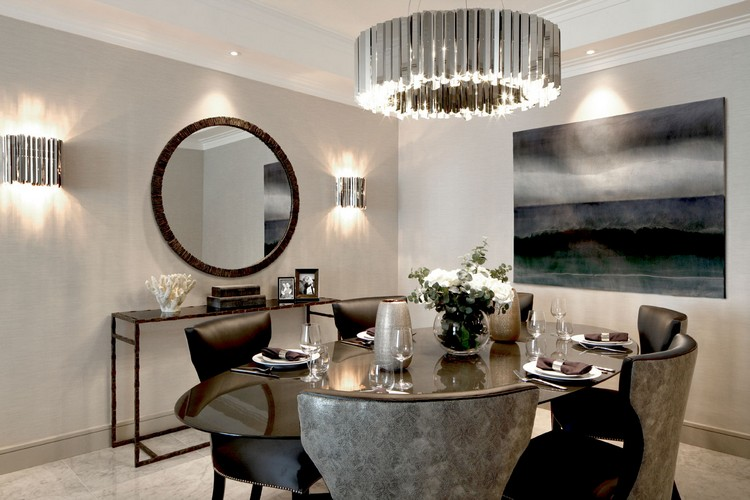 luxury dining with majestic chandelier