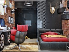 dark kids bedroom designs