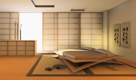 Japanese bedroom designs with showing modern and for Japanese minimalist interior design