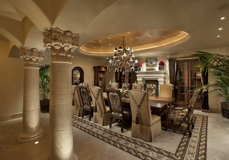 luxurious dining room decoration