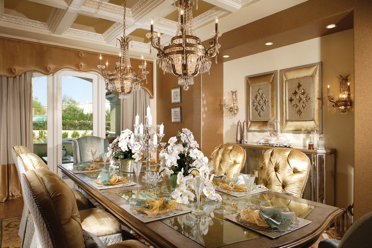 luxury gold dining concept