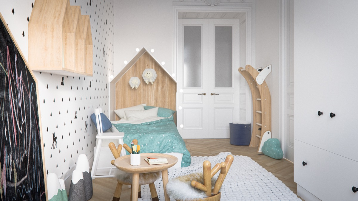 natural-wood-design-accents for kids room