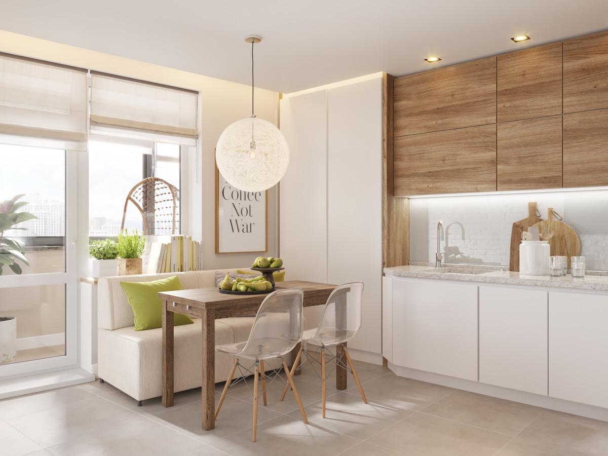 pretty-wood-kitchen with classic design