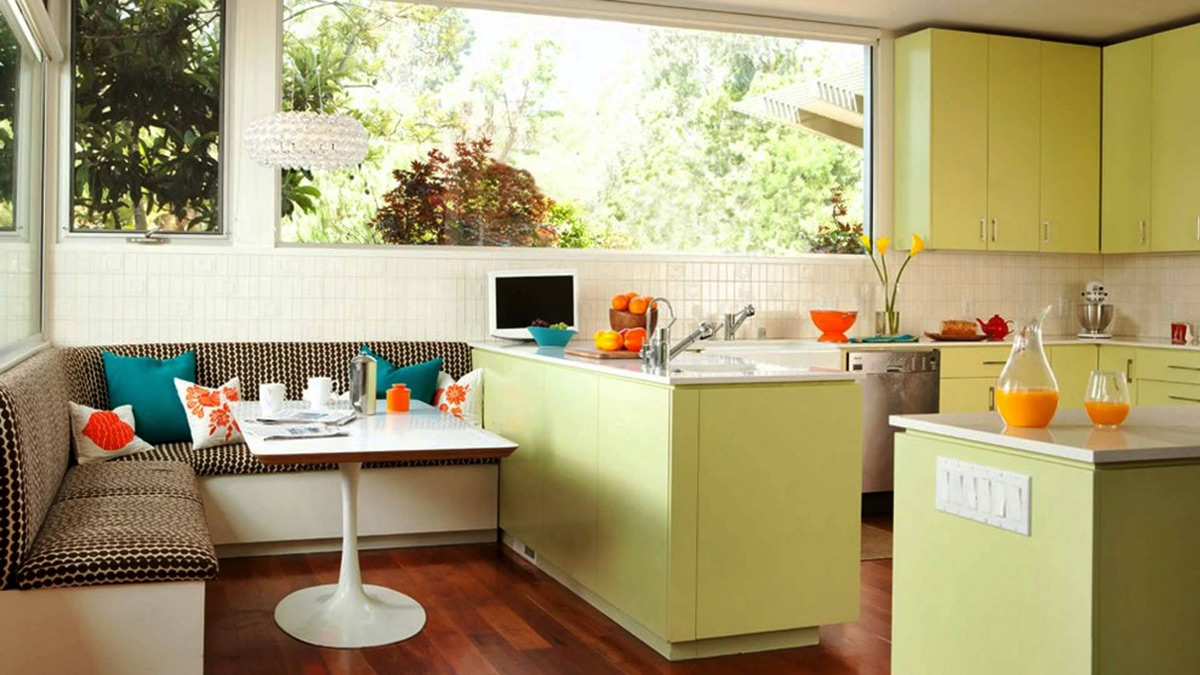 simple modern lime kitchen