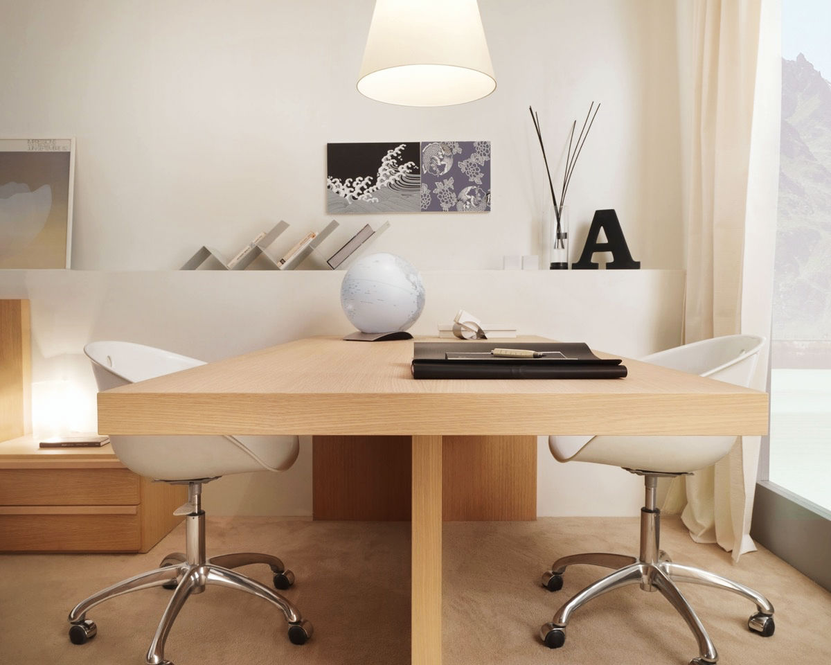 simple wooden workspace design