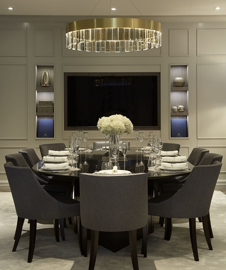 white and black luxury dining