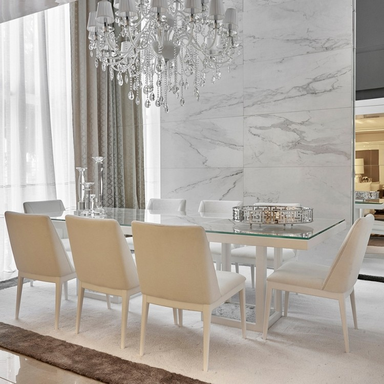 Variety of gorgeous lighting for luxurious dining rooms for White dining room decor