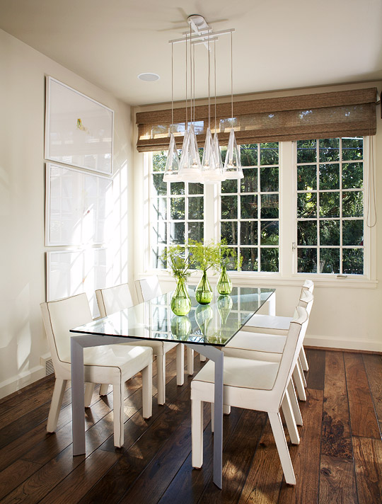 white simple dining room decor