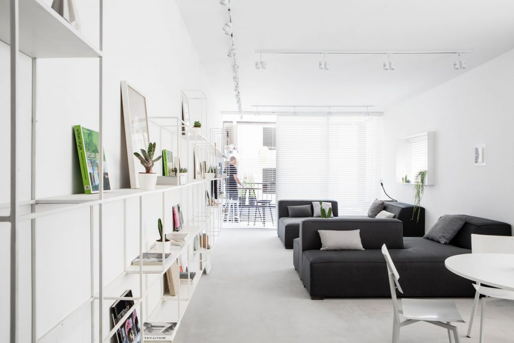 Modern Minimalist Apartment Interior Design With White And Gray Color Scheme Roohome