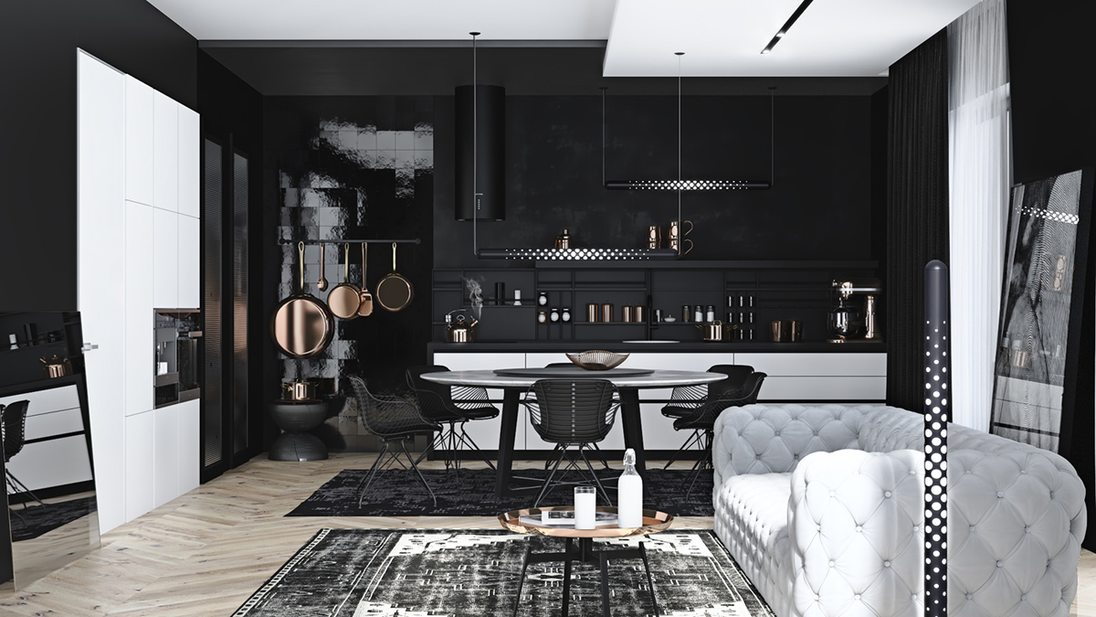 black and gray living room design ideas