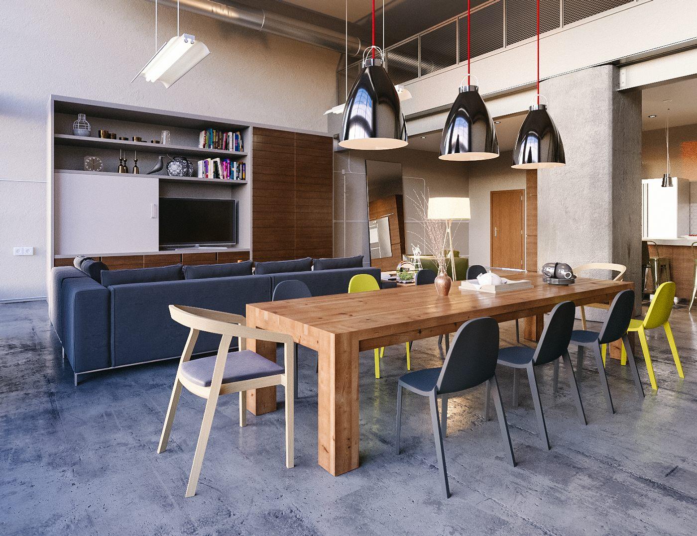 chic scandinavian dining room