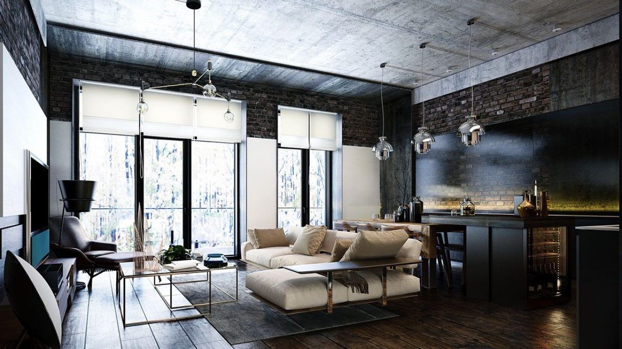 Industrial Style 3 Modern Bachelor Apartment Design Ideas Roohome