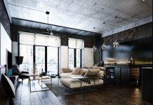 modern bachelor apartment design