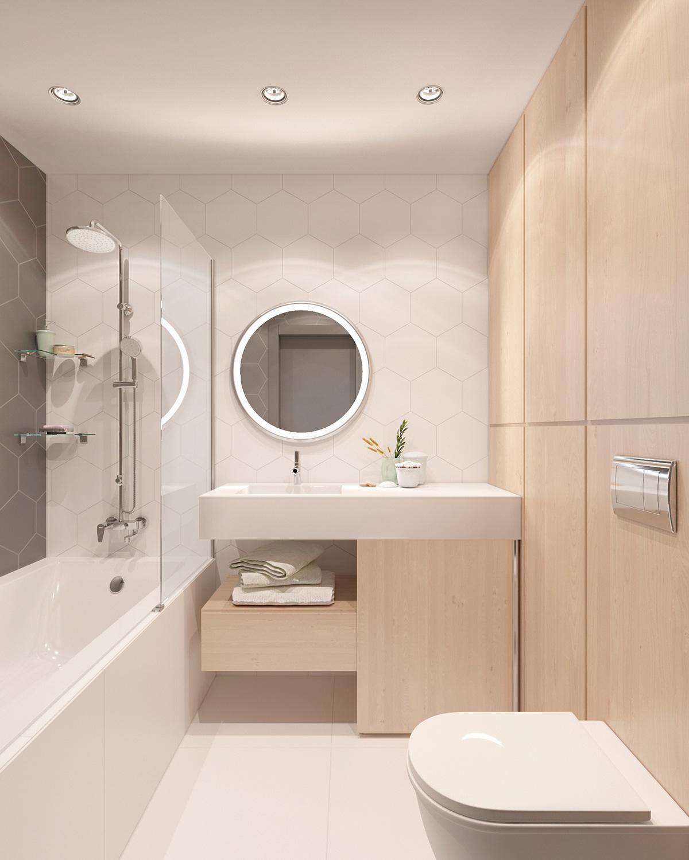diva-light-mirror for simple bathroom