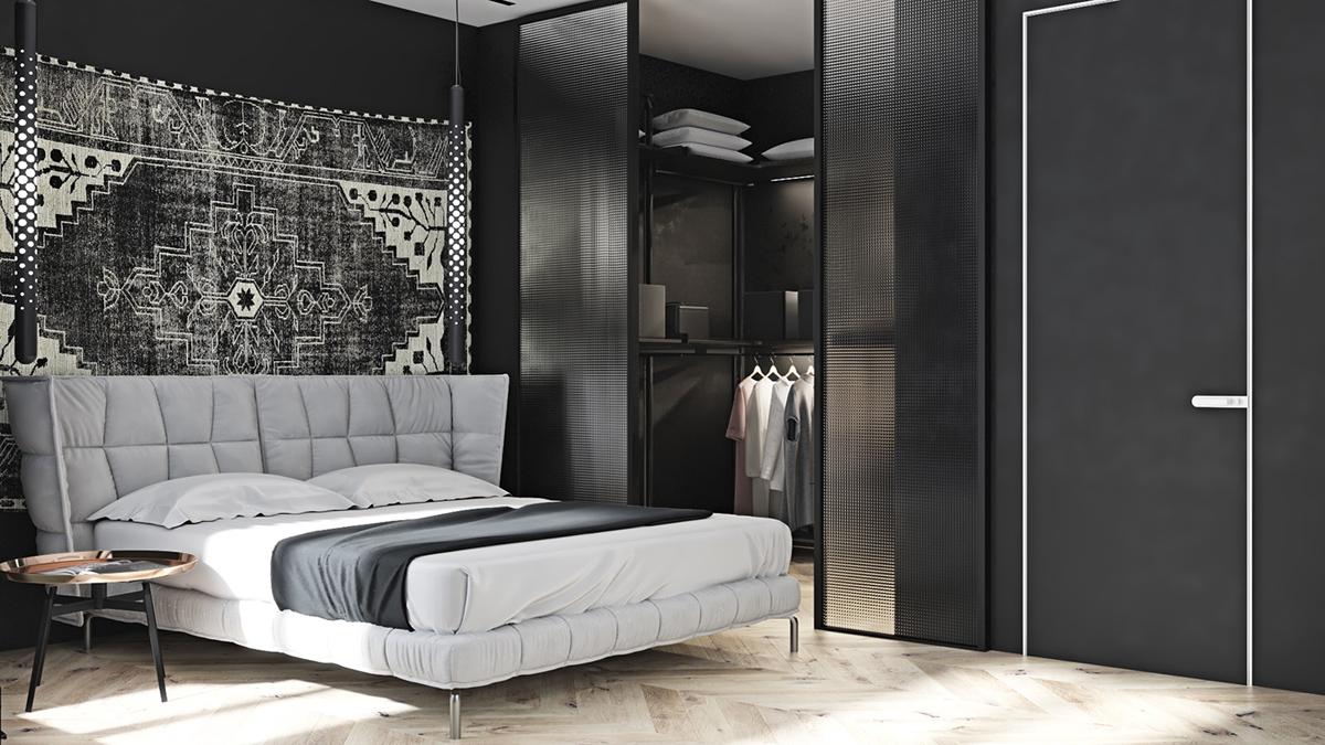 dark bedroom-decor ideas