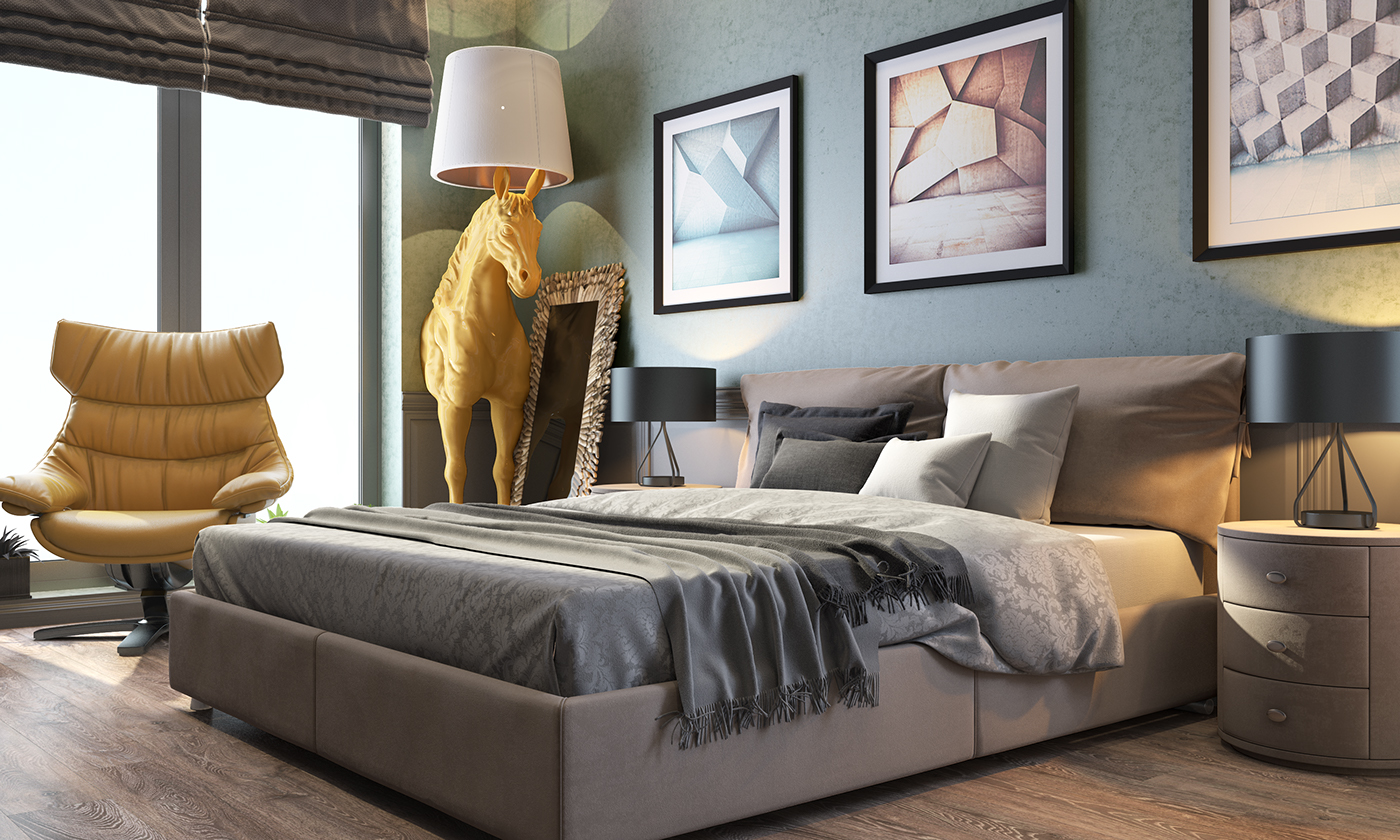 horse sculpture for modern bedroom