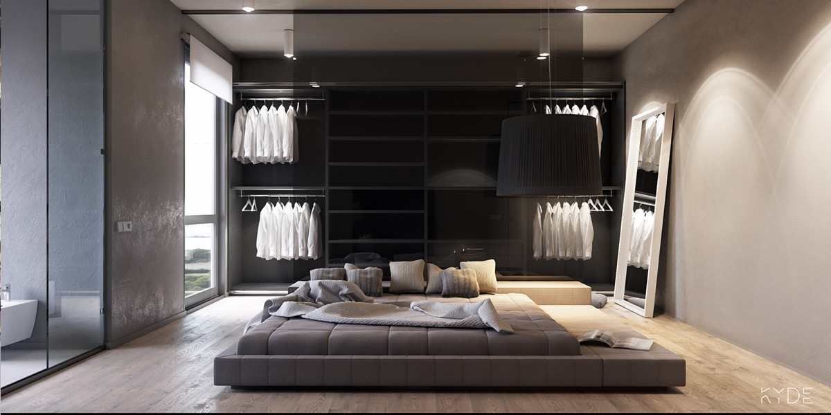 minimalist open-bedroom design