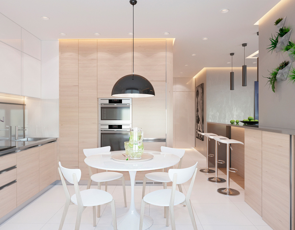 modern dining and kitchen design