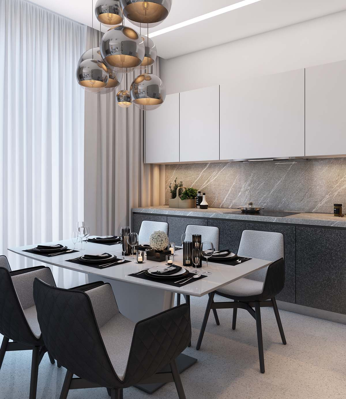 modern dining-room-pendants