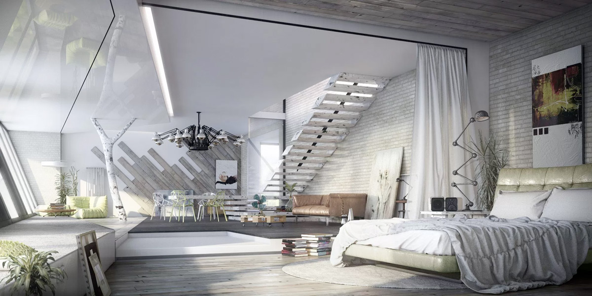 modern-industrial-bedroom design