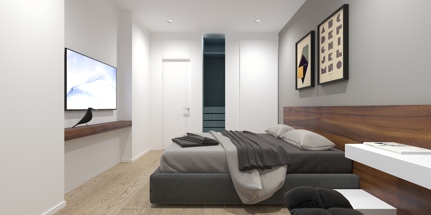2 modern minimalist home design exposed brick and wooden for Minimalist bed design