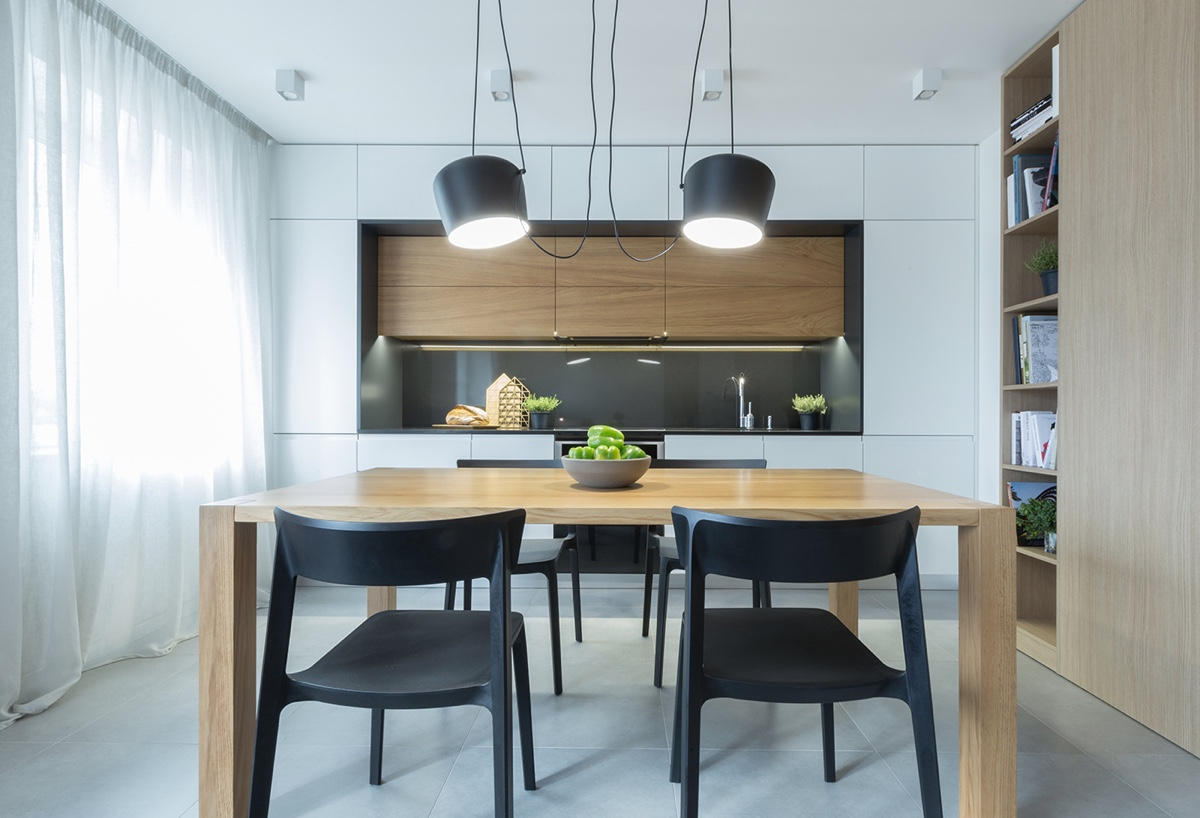 modern minimalist black-dining-chairs