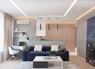 Sophisticated Modern Design Apartment with Dark Color Concept ...