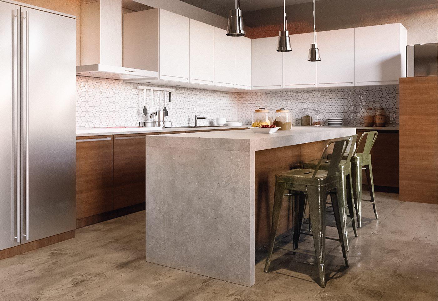 simple modern kitchen-barstools