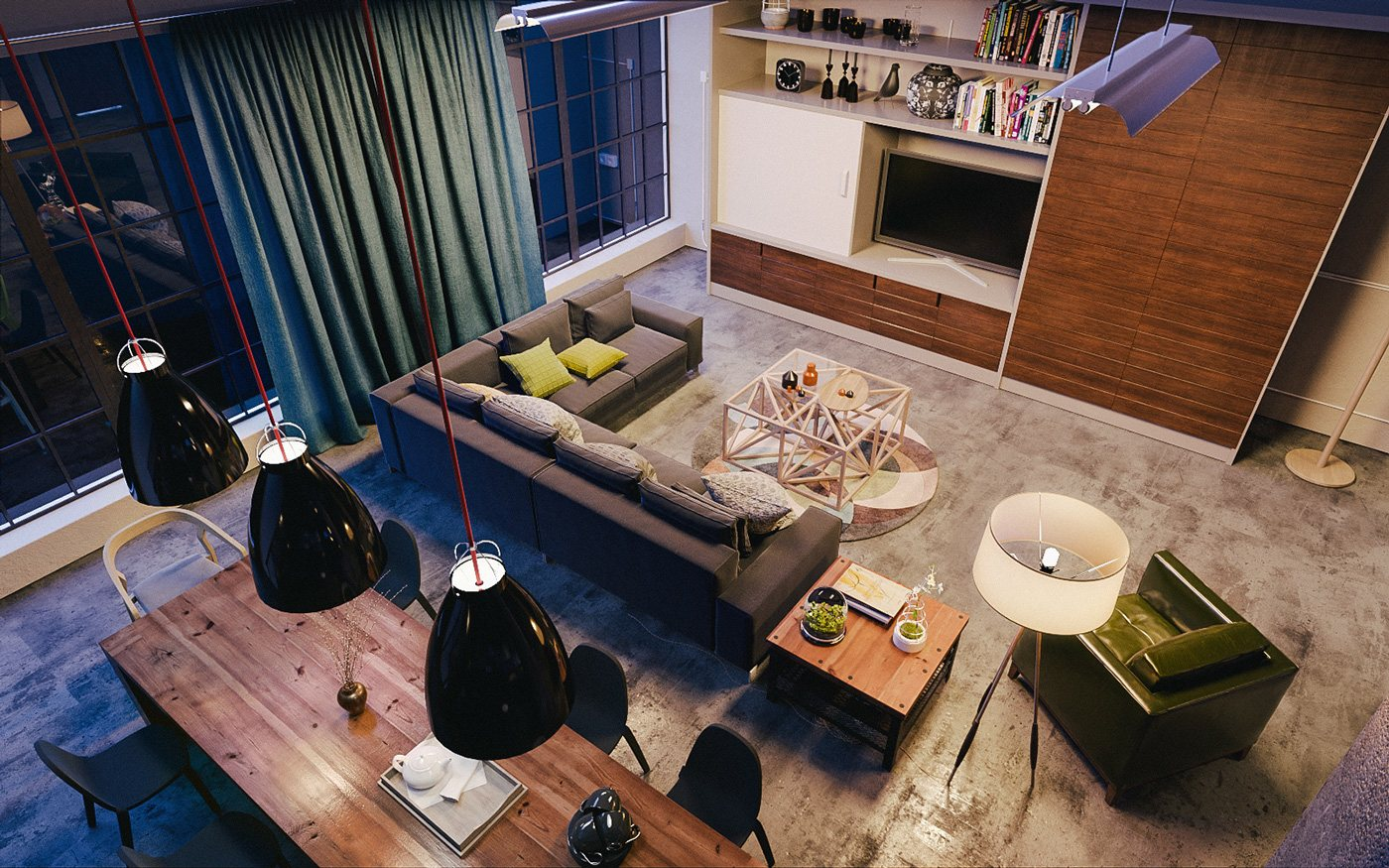 trendy chic lofted home design