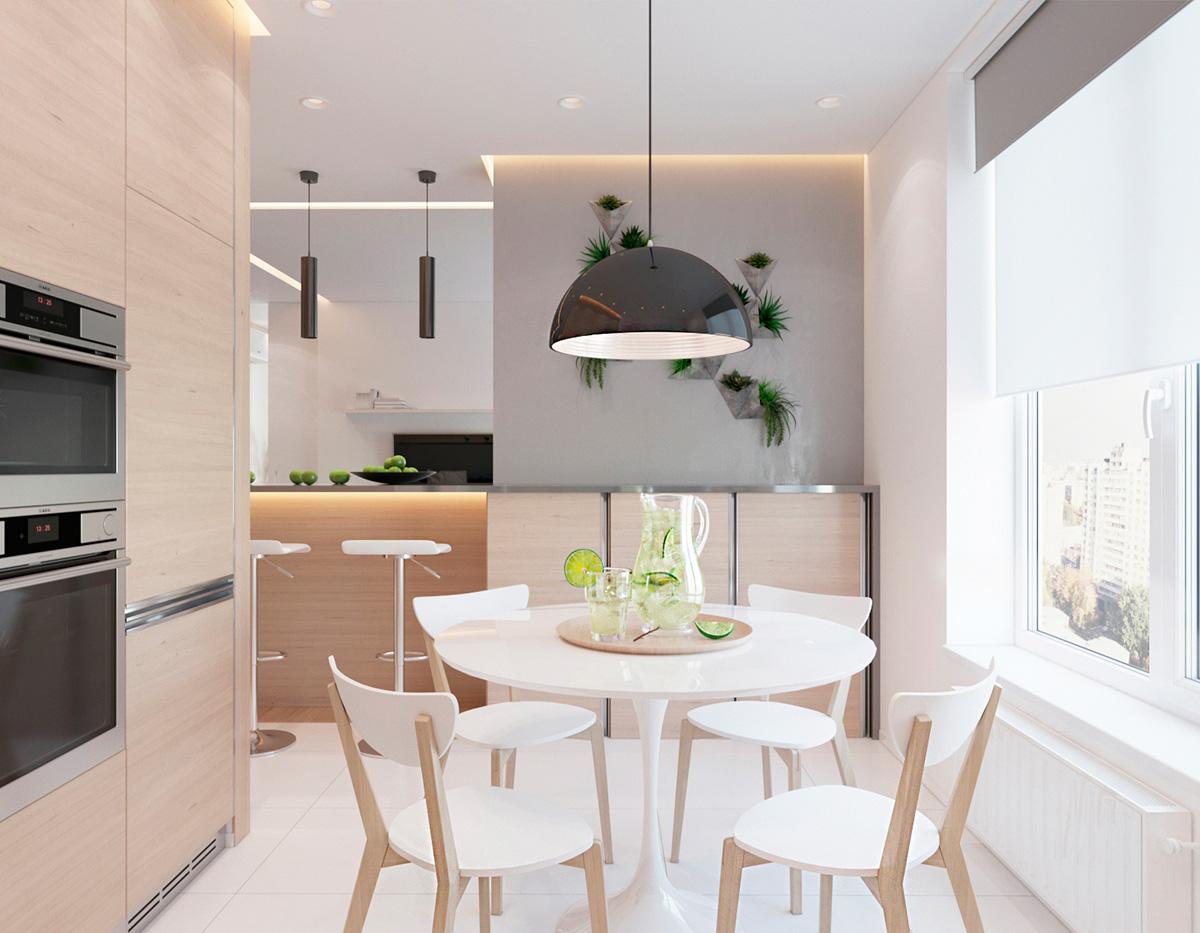 white-dining-room design